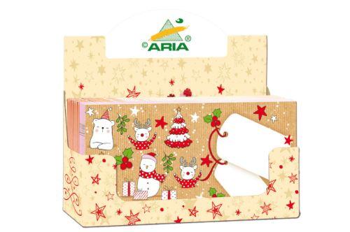 OB DL box va - Obálka vánoční 220x110mm (mix 100ks)