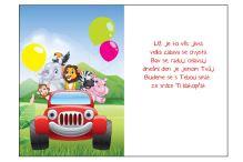BOB 2600 - Blahopřání do obálky