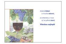 BOB 2515/95 - Blahopřání do obálky