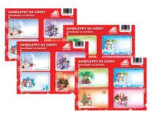 SAM4va - Samolepky na dárky vánoční (4 aršíky v bal.)