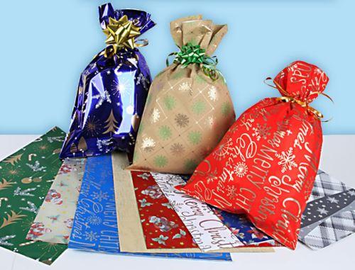 66 - Sáček polypropylen 200x350 vánoční (100ks/bal)