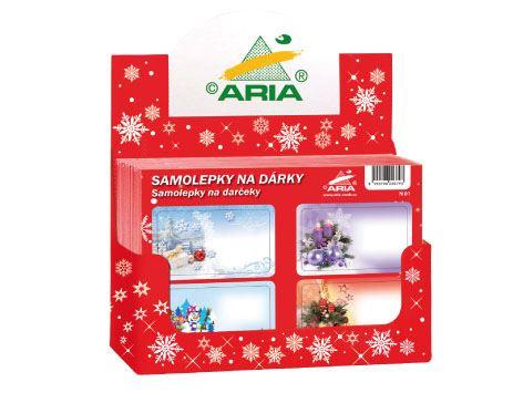 Sam2boxva - Samolepky na dárky vánoční - box (200 aršíků v boxu)