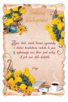 BOG 1727 skl.  - Blahopřání do obálky listina skl.